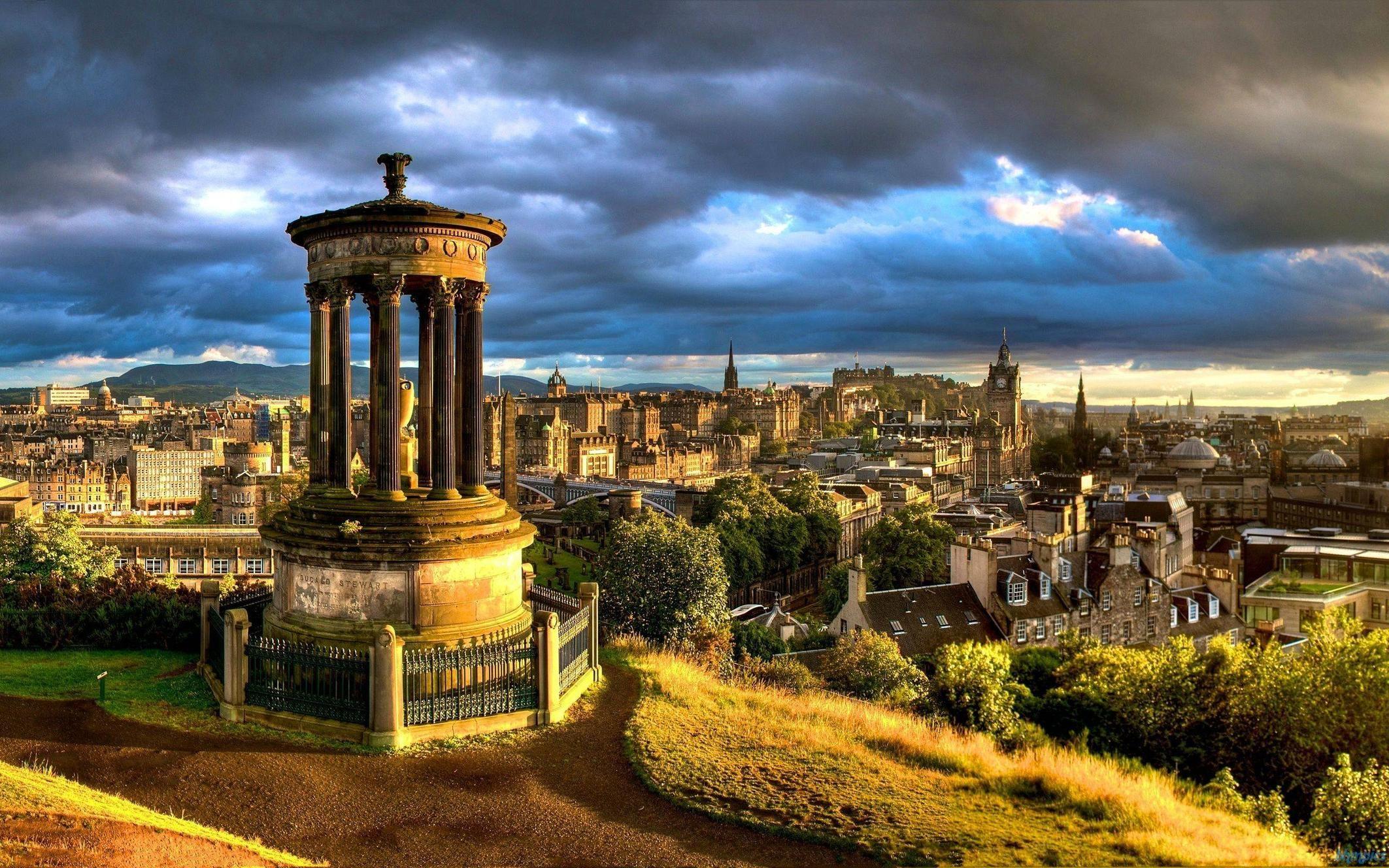 Обои dugald stewart monument, scotland, Шотландия, эдинбург, edinburgh, calton hill. Города foto 13