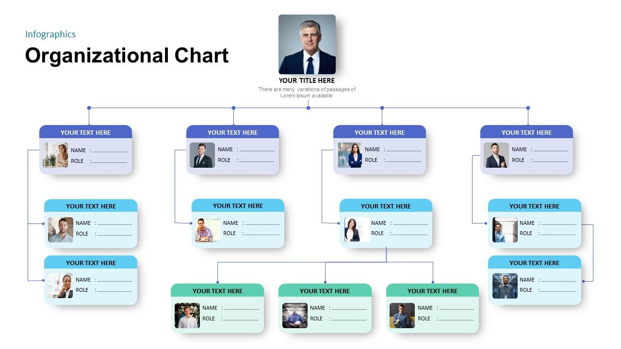 Simple Organizational Chart Template For Powerpoint Presentation Powerpointtemplates Powerp Organizational Chart Org Chart Organizational Chart Design Free template for organizational chart