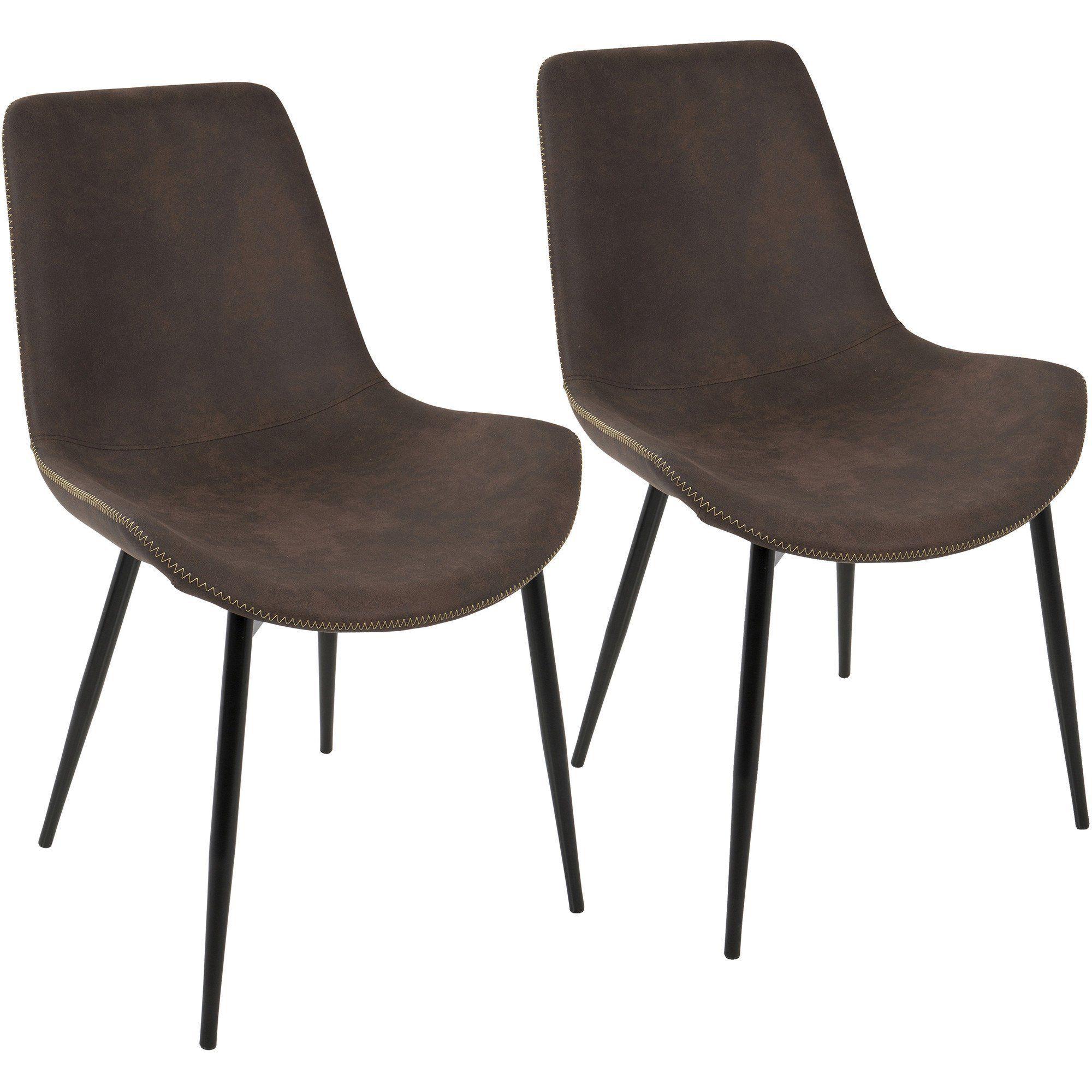 duke industrial dining chairs black espresso set of 2 home rh pinterest ca