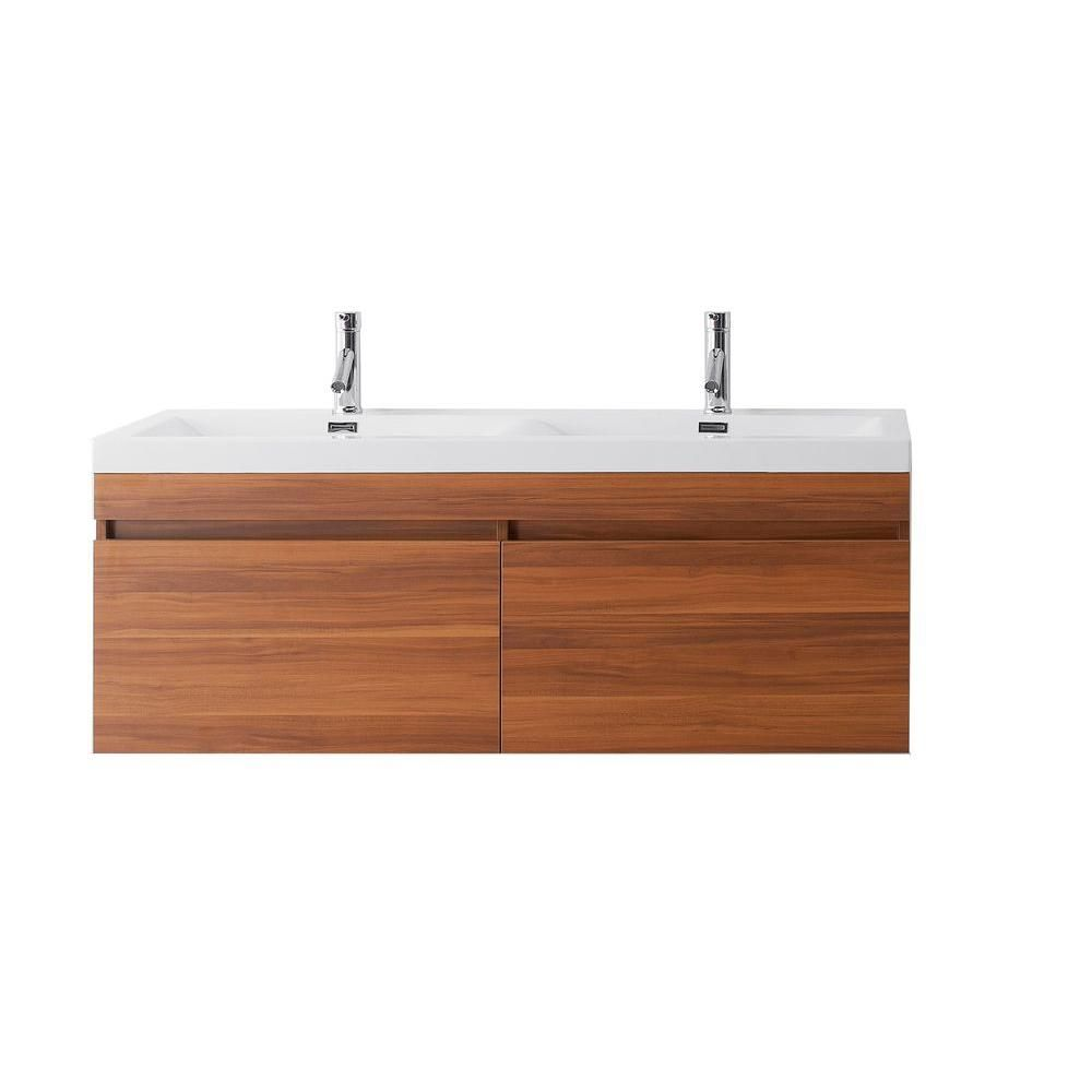 virtu usa zuri 54 11 16 in double basin vanity in plum with poly rh pinterest com