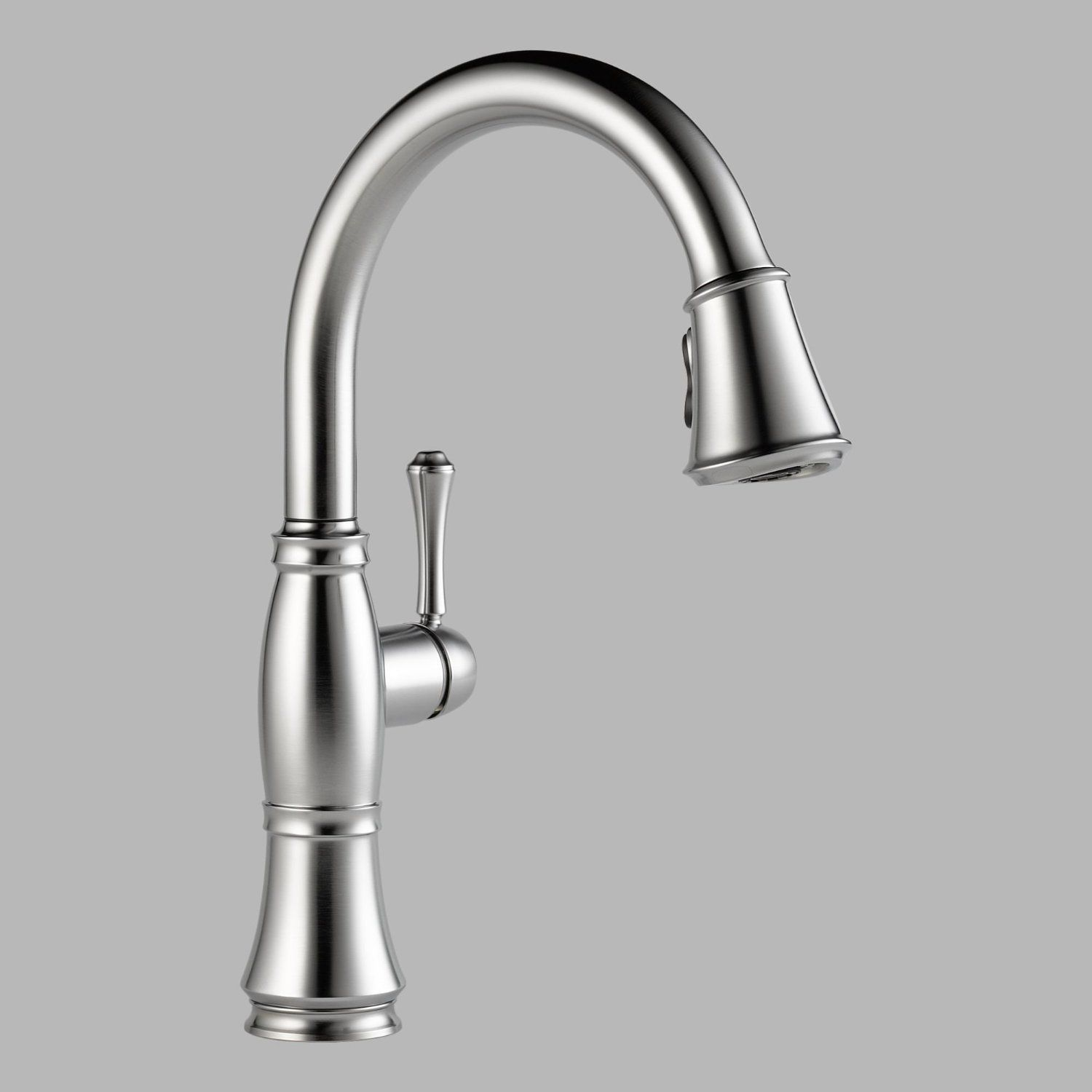 delta faucet 9197 ar dst cassidy single handle pull down kitchen rh pinterest com