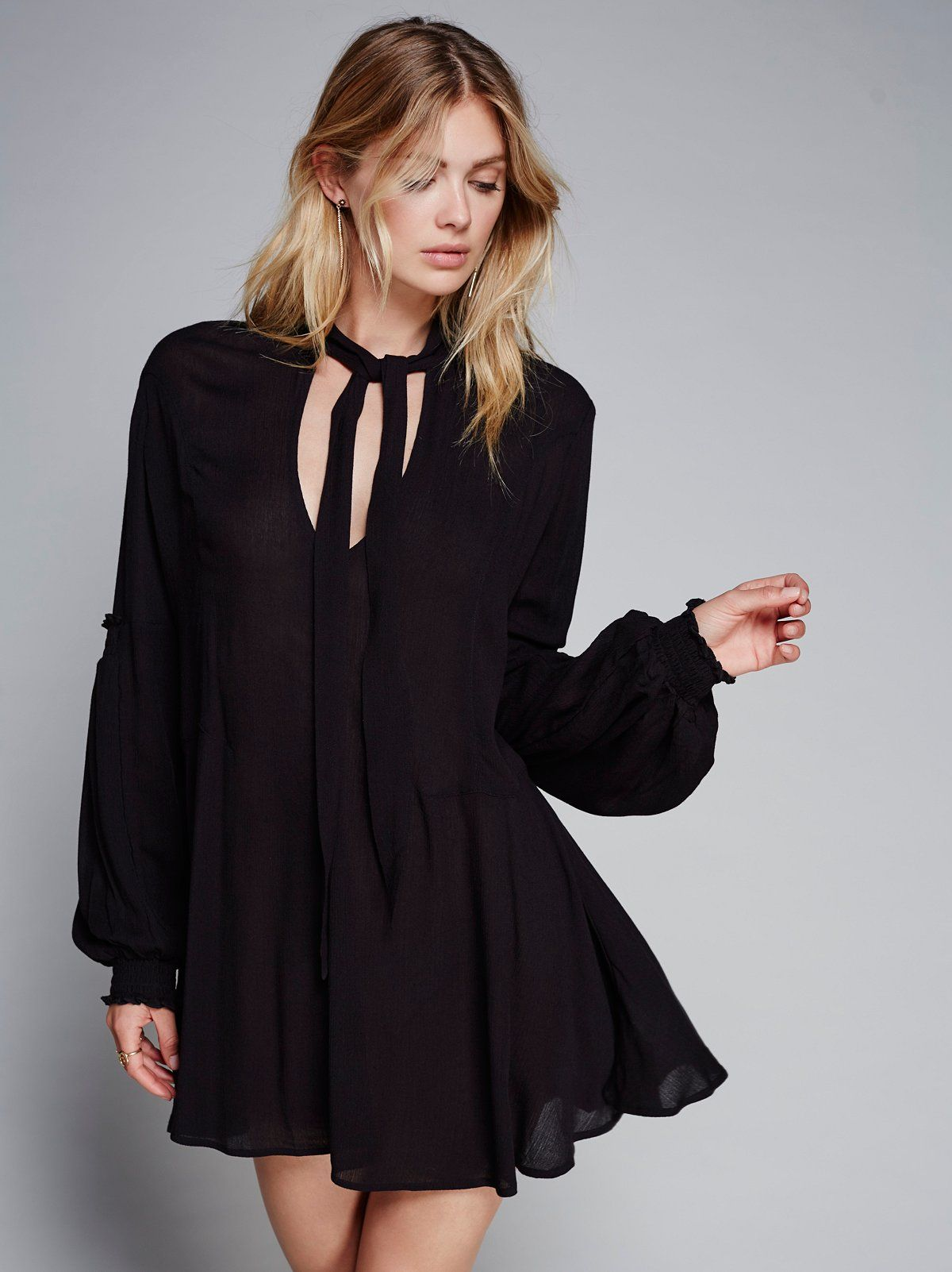 Last rose tunic long sleeve breezy tunic with vneckline and femme