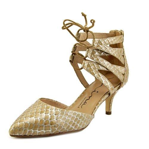 Nina Fun Women US 6 Tan Sandals, Women's, Size: 6 Medium, Sand Snake