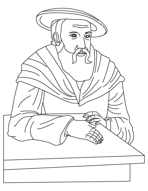 Johannes Kepler coloring page | Mystery of History 3 | Pinterest