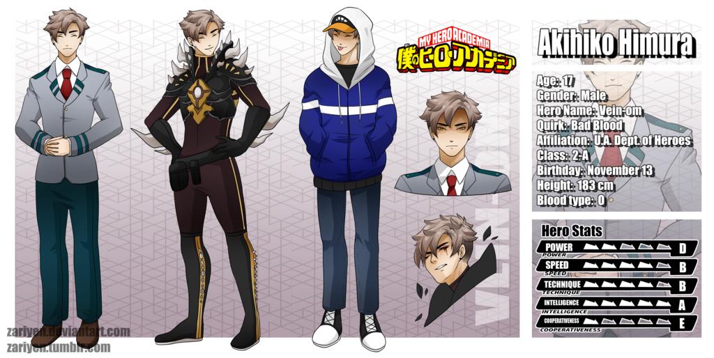BNHA OC] Akihiko Himura [Profile] by zariyen | anime | Hero