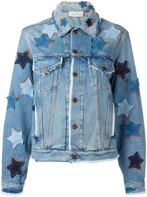 268755d48 Shop Faith Connexion star patches denim jacket.