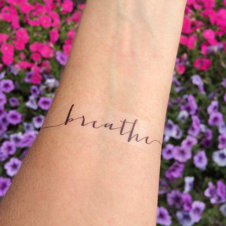 Breathe Tattoo Arm Tattoo Temporary Tattoo Fake Tattoo | Etsy