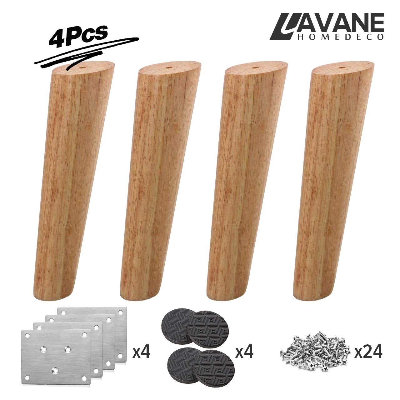 20 inch 50cm wooden furniture legs la vane set of 4