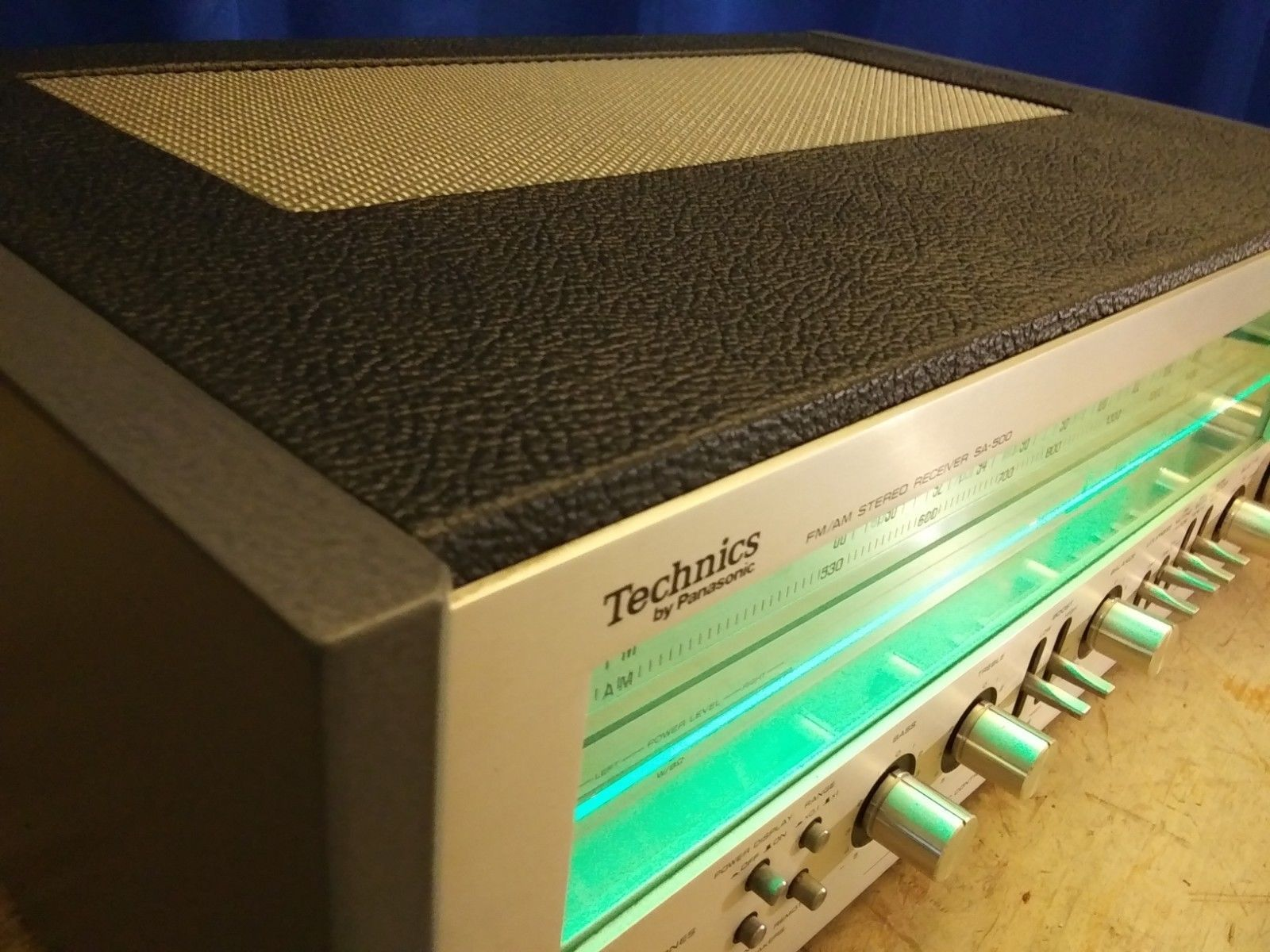 Vintage Technics SA-500 Stereo Receiver / Green LED / Custom