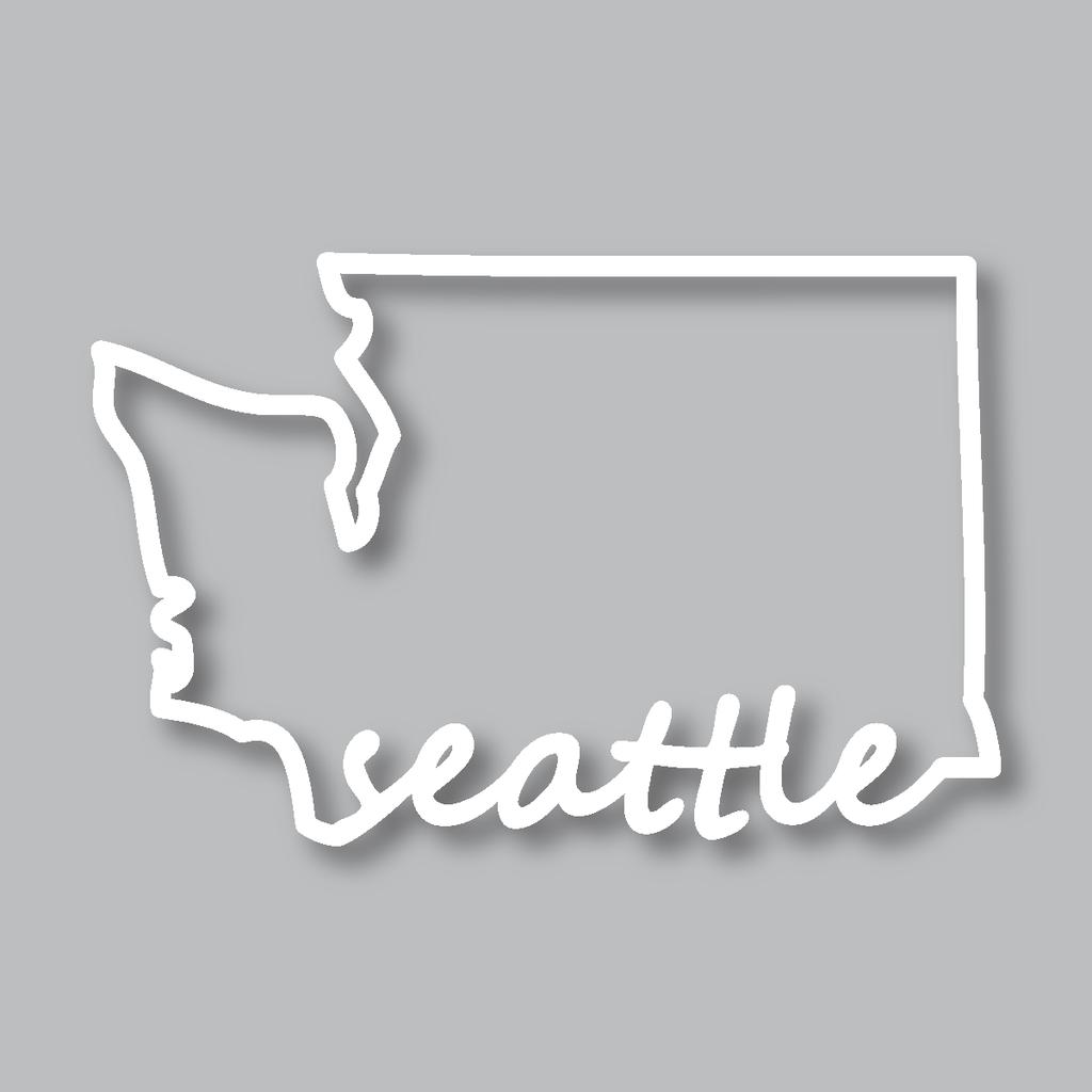 Our Washington Outline Seattle Diecut Sticker showcases