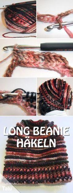 Long Beanie häkeln - Kostenlose Anleitung für Anfänger #beanies