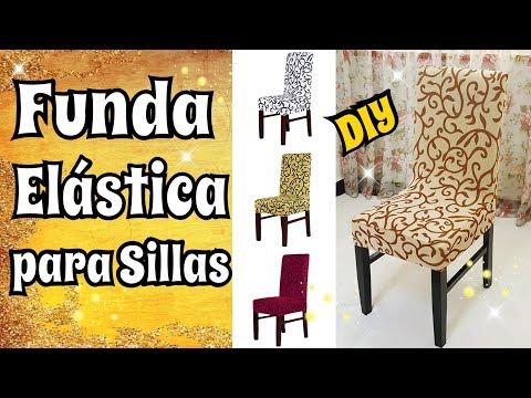 311 Tutorial Como Hacer Funda Elástica Para Sillas Diy Costura Facil Youtube Diy Chair Covers Diy Diy And Crafts