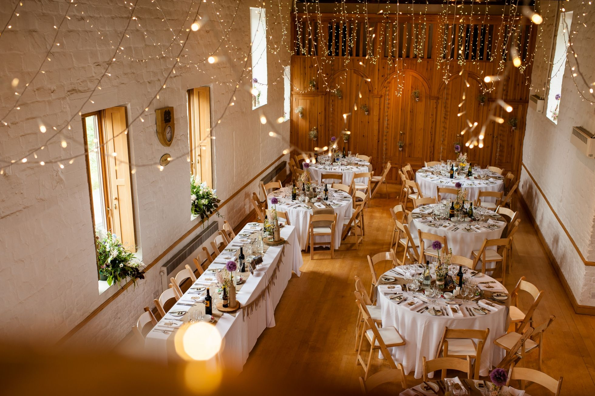 Fairy Lights Change A Village Hall Into Special Wedding Venue