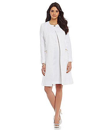 JM Studio by John Meyer Jacquard Jacket Dress #Dillards