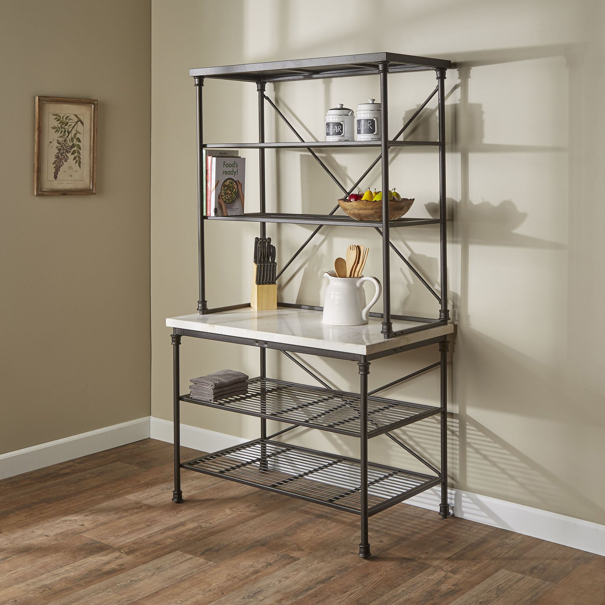 noha baker s rack bakers rack in 2019 bakers rack furniture rh pinterest com