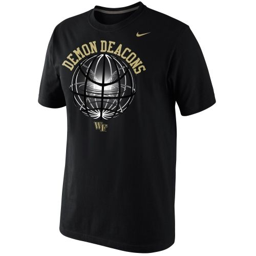 College Nike Wake Forest Demon Deacons Fusion Power Glow Ball T-Shirt - Navy Blue