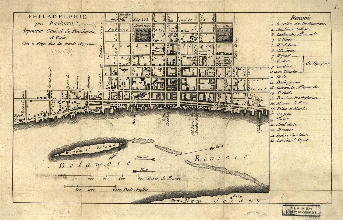 This map dates from 1776 At the