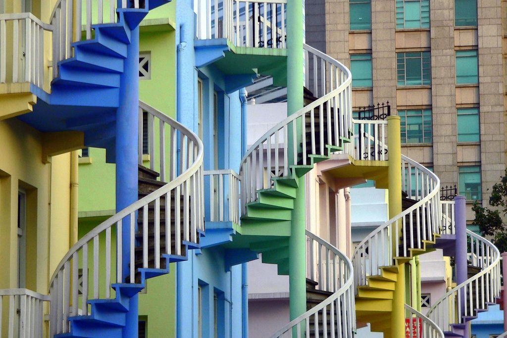 Best Colourful Spiral Staircases Singapore 400 x 300