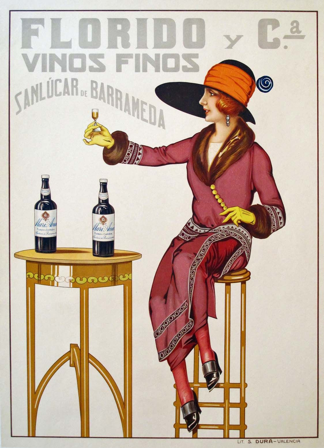 Drinking In Style 1920s Style Vintage Poster Art Art Deco Posters Art Deco Poster
