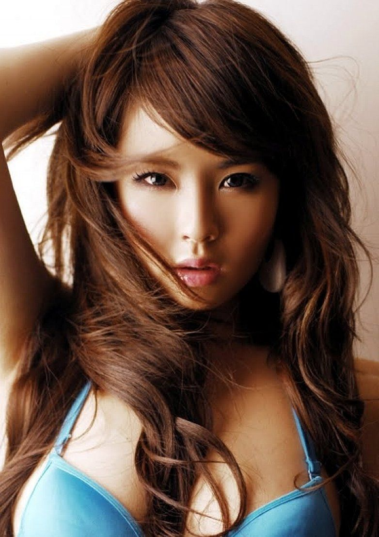 Dark-chocolate-brown-hair-color-with-long-wavy-hair-for-Asian ...