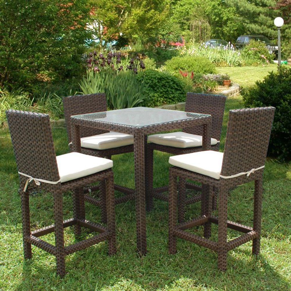 Bar Height Patio Furniture 5 Piece Outdoor Bar Sets Patio Bar