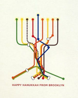 scaredykat brooklyn map subway hanukkah card create print rh pinterest com