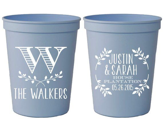 Wedding Favor Cups, Personalized Wedding Cups, Monogrammed Wedding Cups, Monogrammed Cups, Wedding Cups, Custom 16oz Plastic Cups, 1055 #personalizedwedding