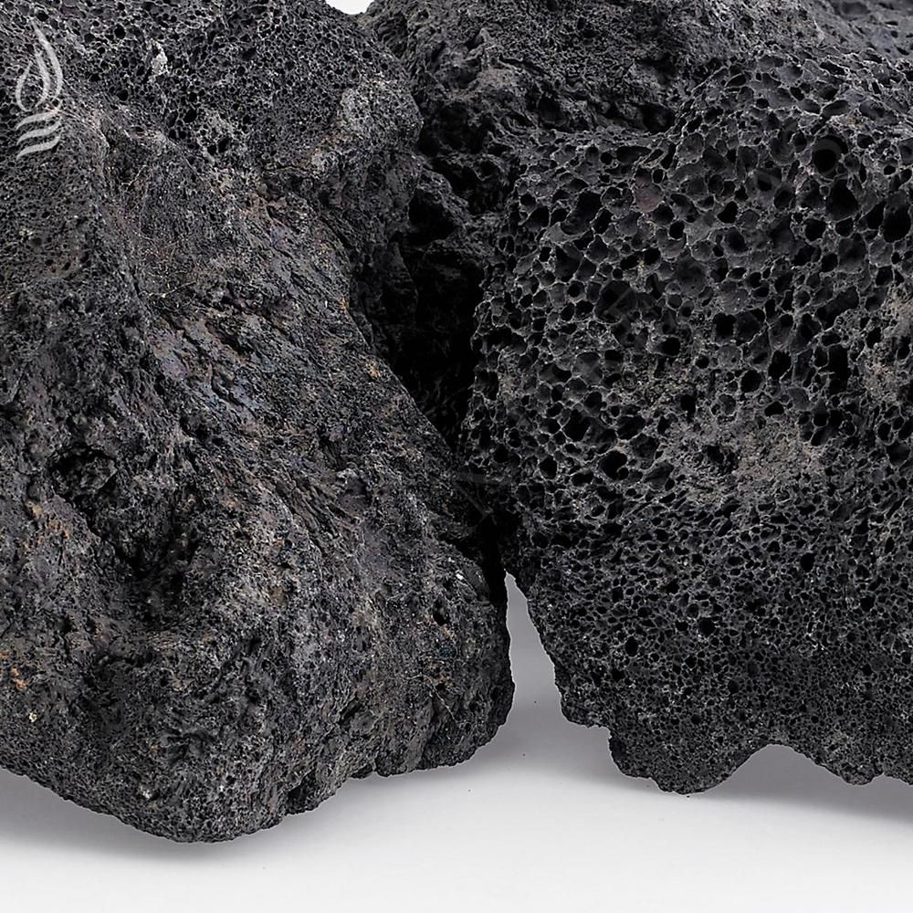 American Fire Glass Xxl Black Lava Rock 4 In 6 In 10 Lbs Bag Lava Xxl 10 The Home Depot Fire Glass Gas Firepit Lava Rock