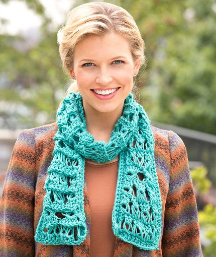 Sampler Broomstick Scarf Free Broomstick Lace Crochet Pattern By