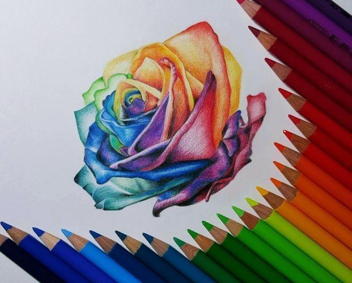Dessin Fleur Facile A Colorer Aux Crayons Apprendre A Dessiner Une