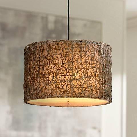 Naturals knotted rattan pendant chandelier natural pendants and naturals knotted rattan pendant chandelier aloadofball Images