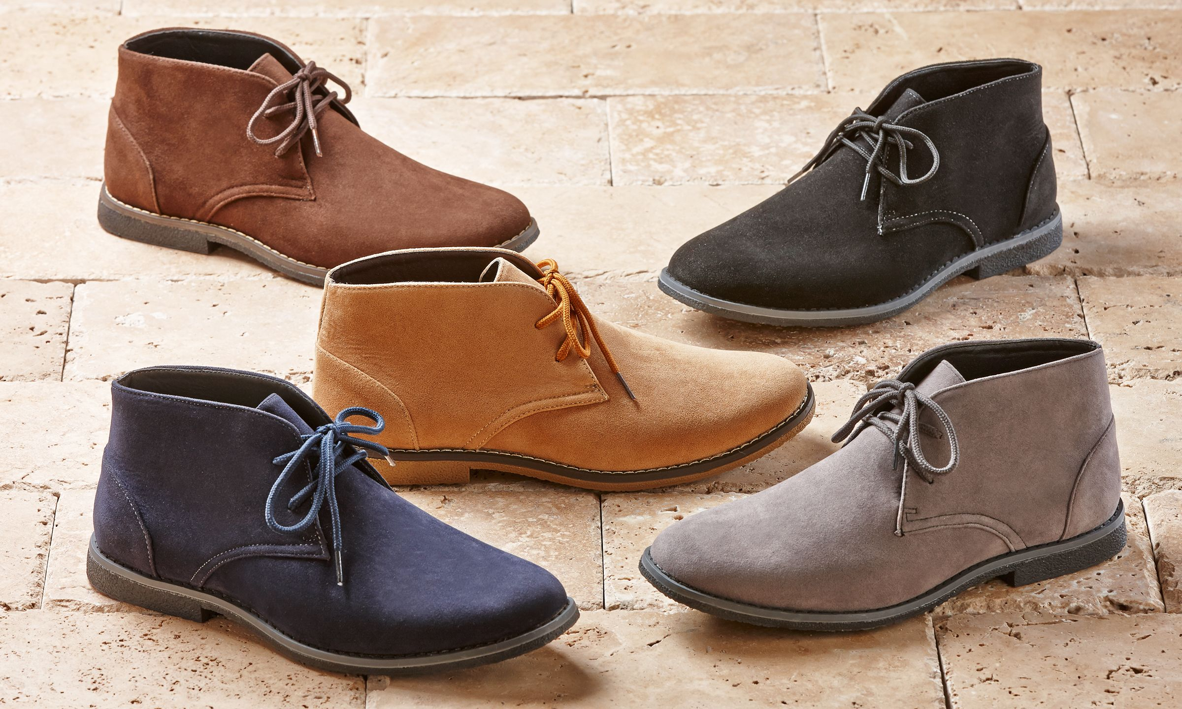 Lightweight microsuede chukka boots are one of the most recognizable,  versatile, and stylish men's shoe styl