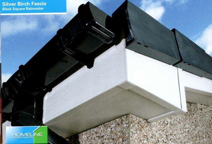 Silver Birch Fascia Board Black Square Rainwater Fascia Board Fascia Roofing