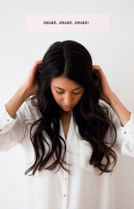 hair long prom beach waves
