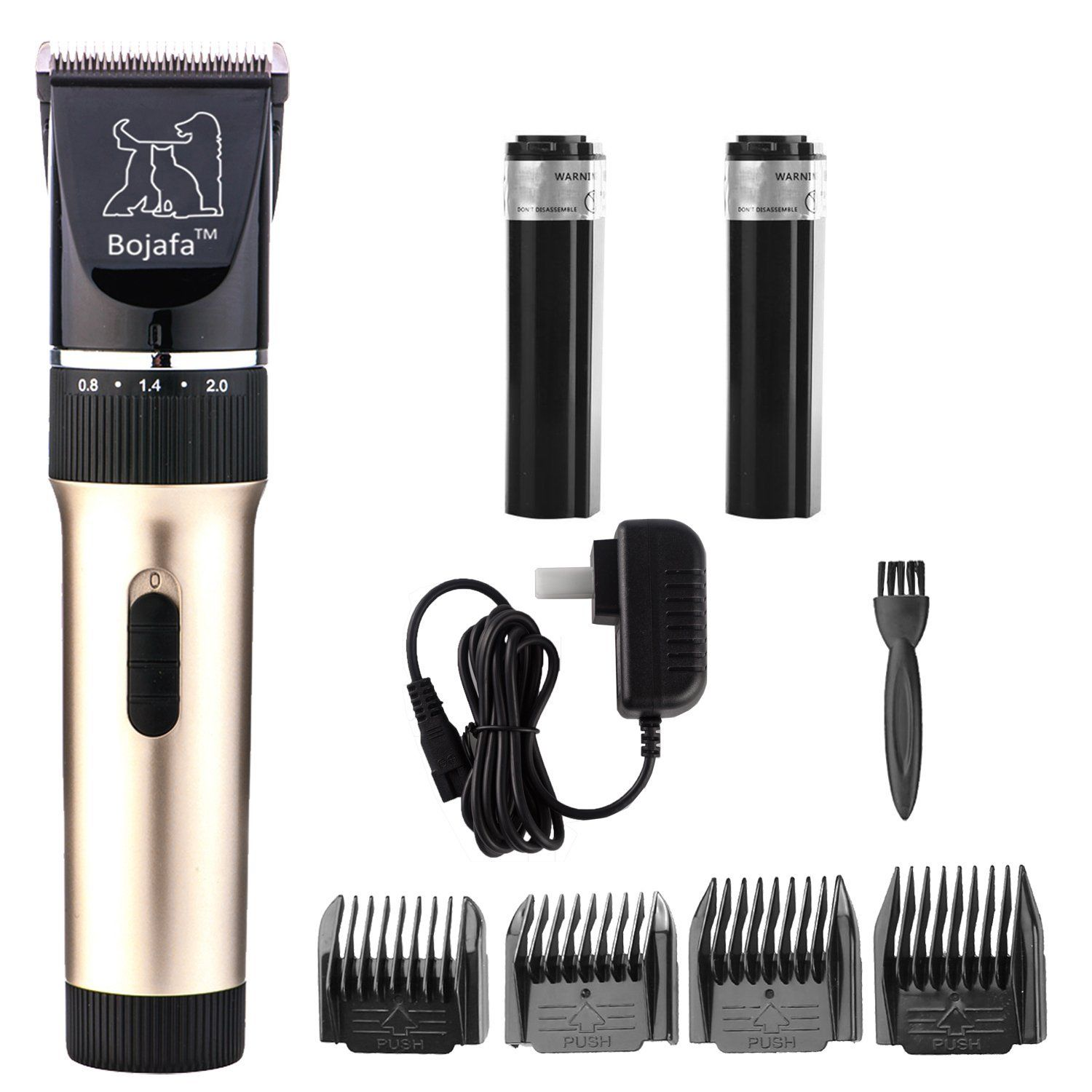 Bojafa Rechargeable Cordless Dog Grooming Clippers Quite Low