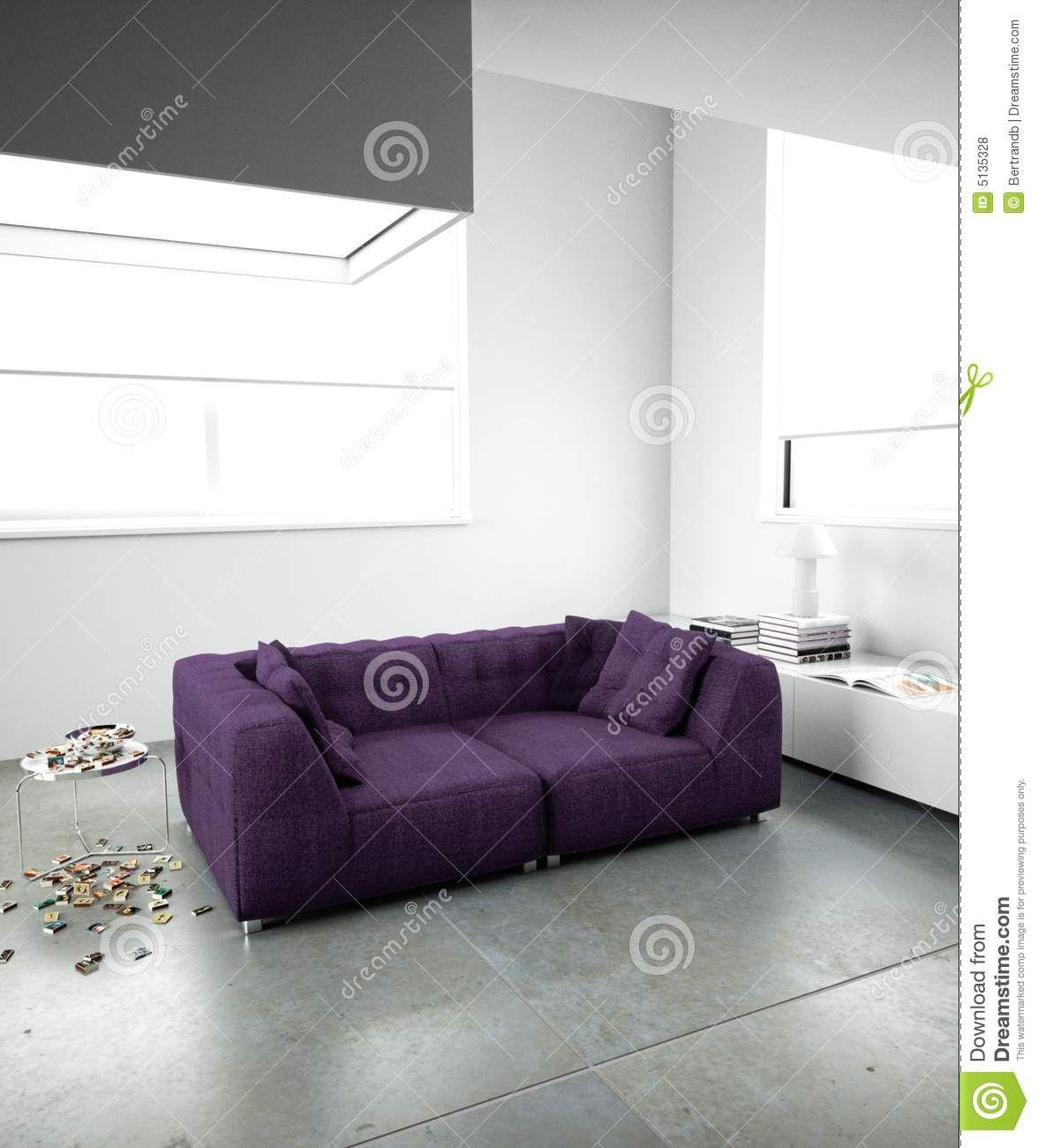 purple sofa in minimalist interior royalty free stock photos image rh in pinterest com