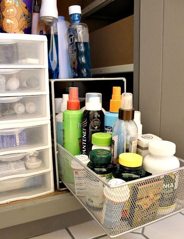 Bathroom Cabinet Organization Doesnu0027t Have to be