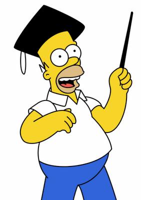 homer simpson learns to be intelligent simpsons homer homer rh pinterest com