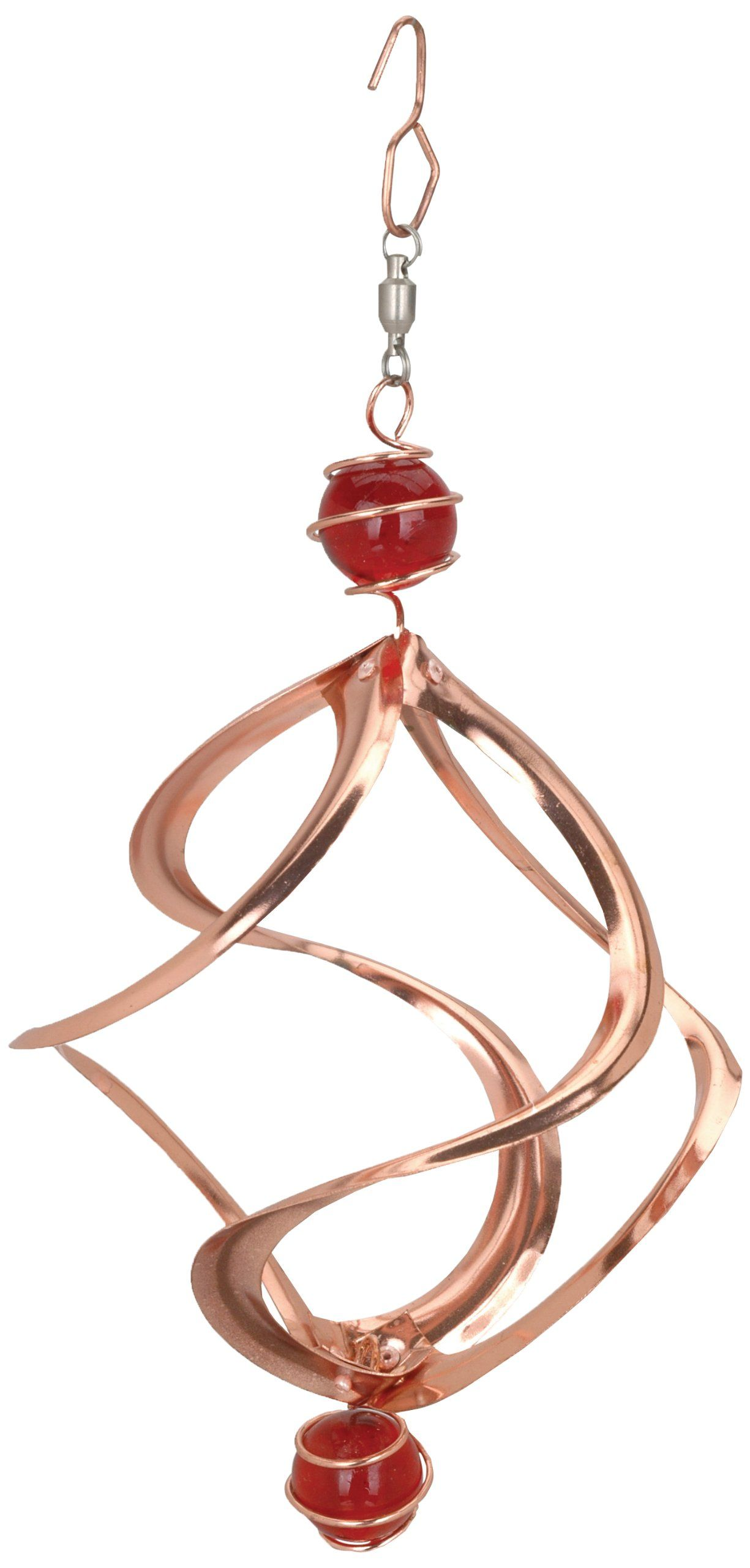 Red Carpet Studios Cosmix Copper Wind Spinner With Marbles Small S Hook Swivel For Easy Hanging And Smooth Spinning