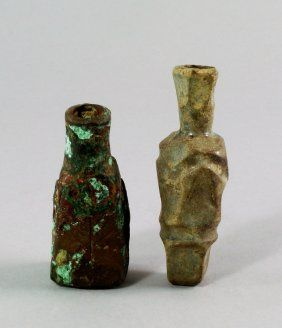 A Sasanian Moulded Glass Scent Bottle, Of Tapering Form