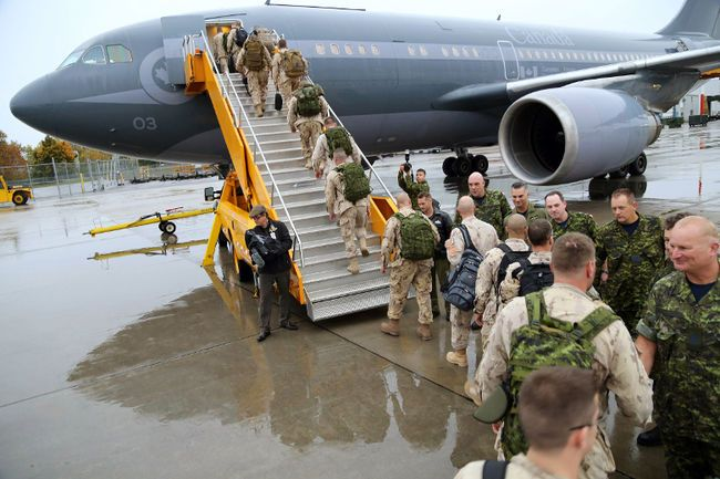 Media restricted as soldiers leave for fight against ISIS (Toronto Sun 16 October 2014)