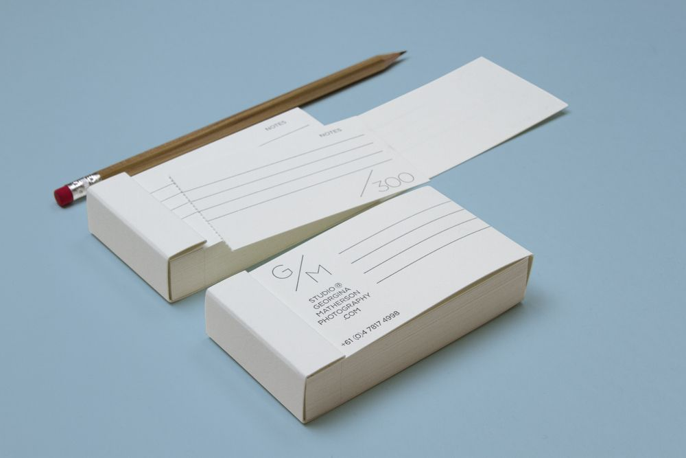 Studio Worldwide // Business card books with perforated cards ...