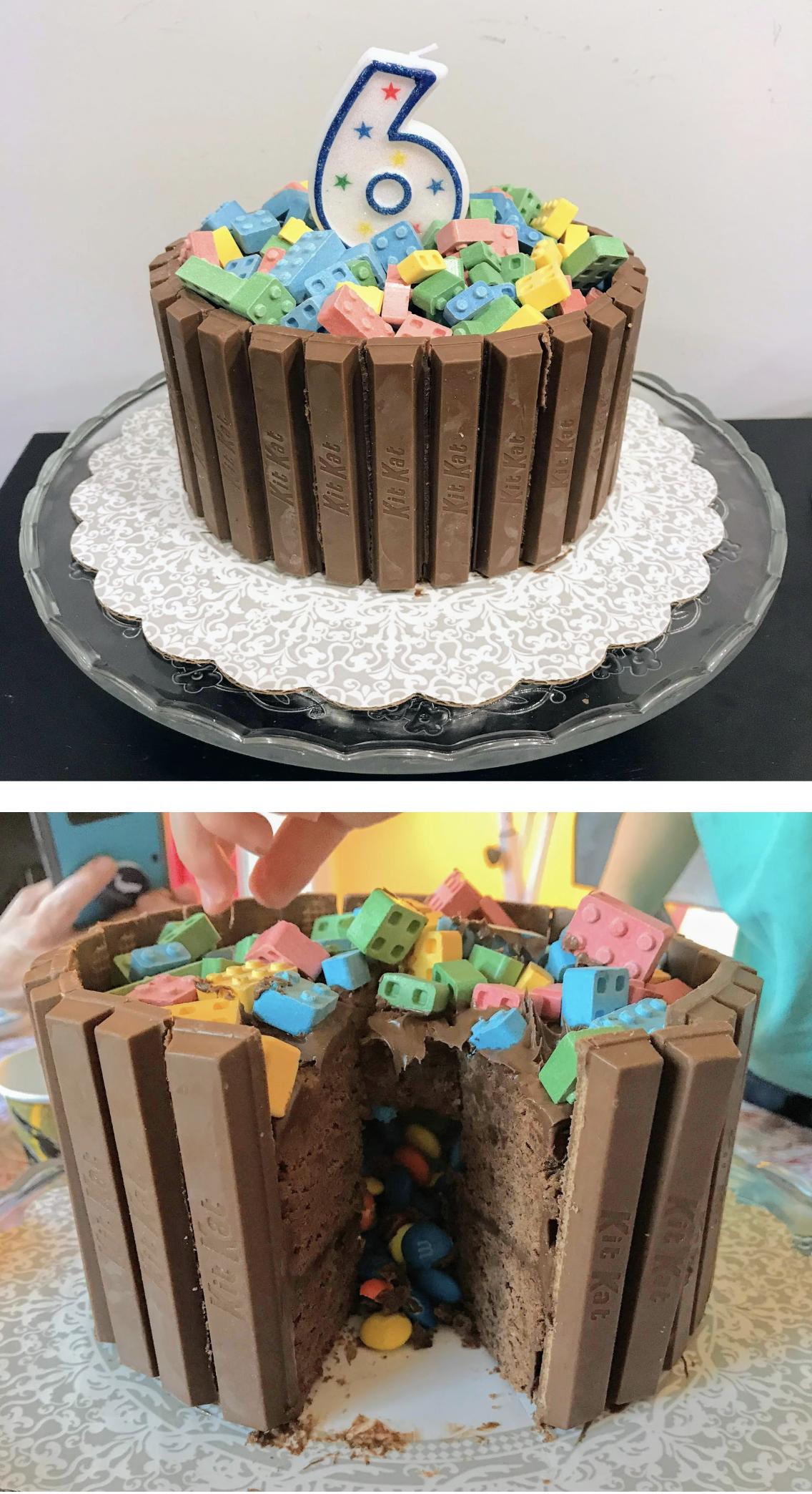 Ians 6th Birthday Lego Chocolate Pinata Cake Family Recipe