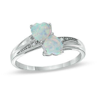 Fine Jewelry Lab-Created Opal Heart-Shaped Sterling Silver Bracelet XS1JA41sAo