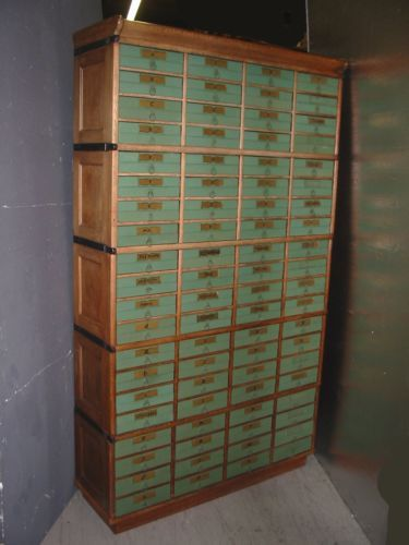 RARE Antique GLOBE WERNICKE File CABINET Bookcase OAK Stackable 80 Drawers