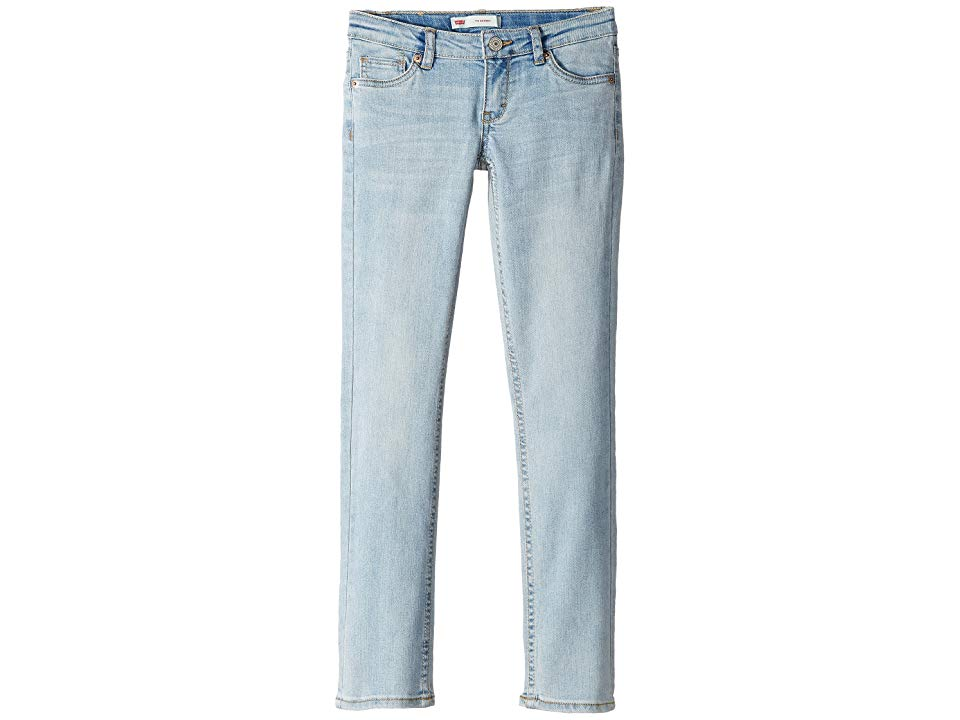 Levisr Kids The Skinny Jean Big Kids Bleach Out Girls Jeans Rock star style comes easy in The Skinny Jean from Levis Jeans boasts a super skinny fit through the seat thig...