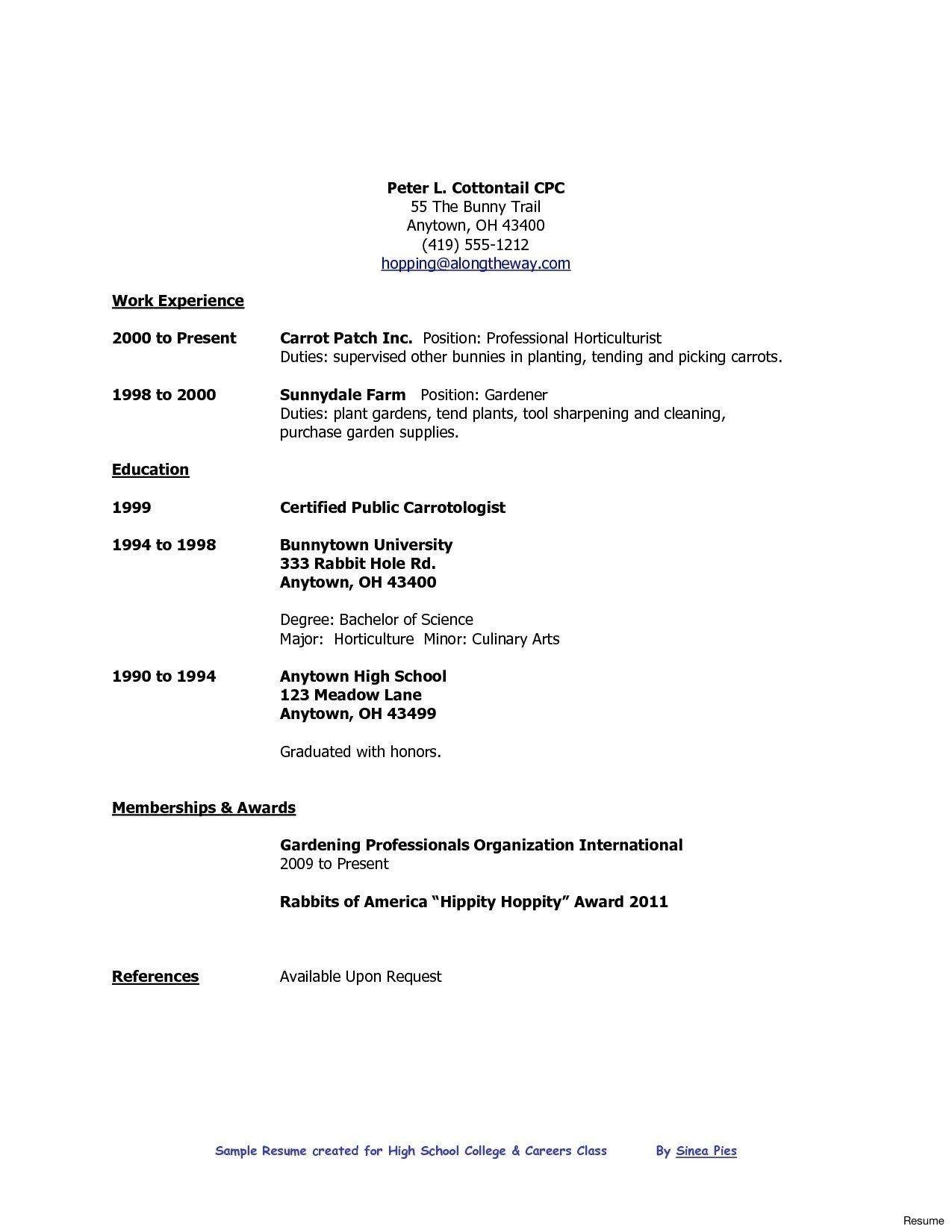 High School Graduate Resume Template Download Resume Simple