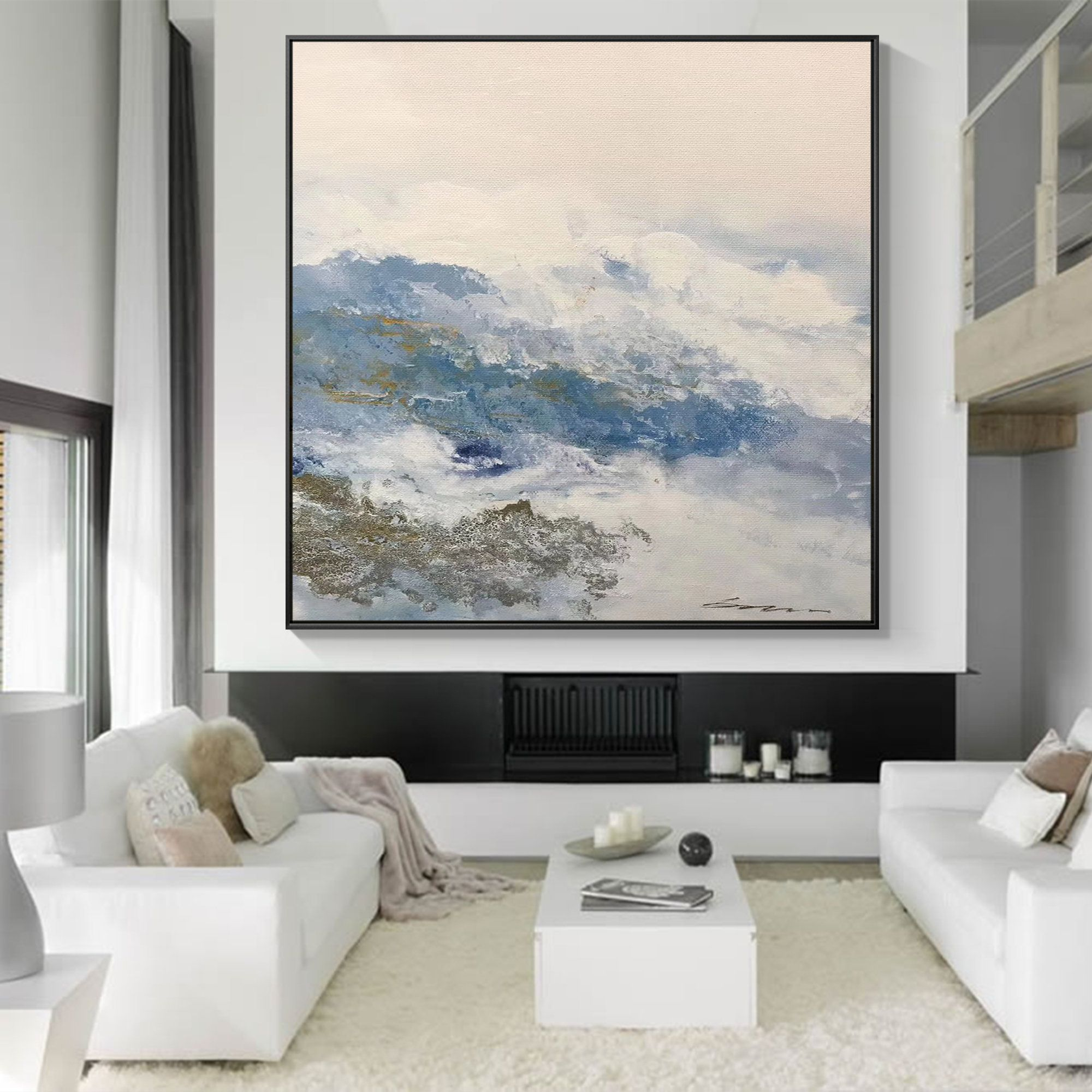 Frame Painting Modern Large Wall Art Textured Painting Acrylic Mountain Wall Art Framed Abstr Large Abstract Wall Art Large Modern Wall Art Modern Art Abstract