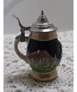 Vintage DRM Germany Minature Lidded Beer Stein - $13.50