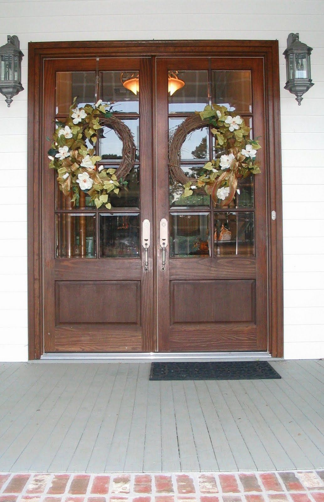 My Life On The Front Porch Double Front Door Wreaths Double